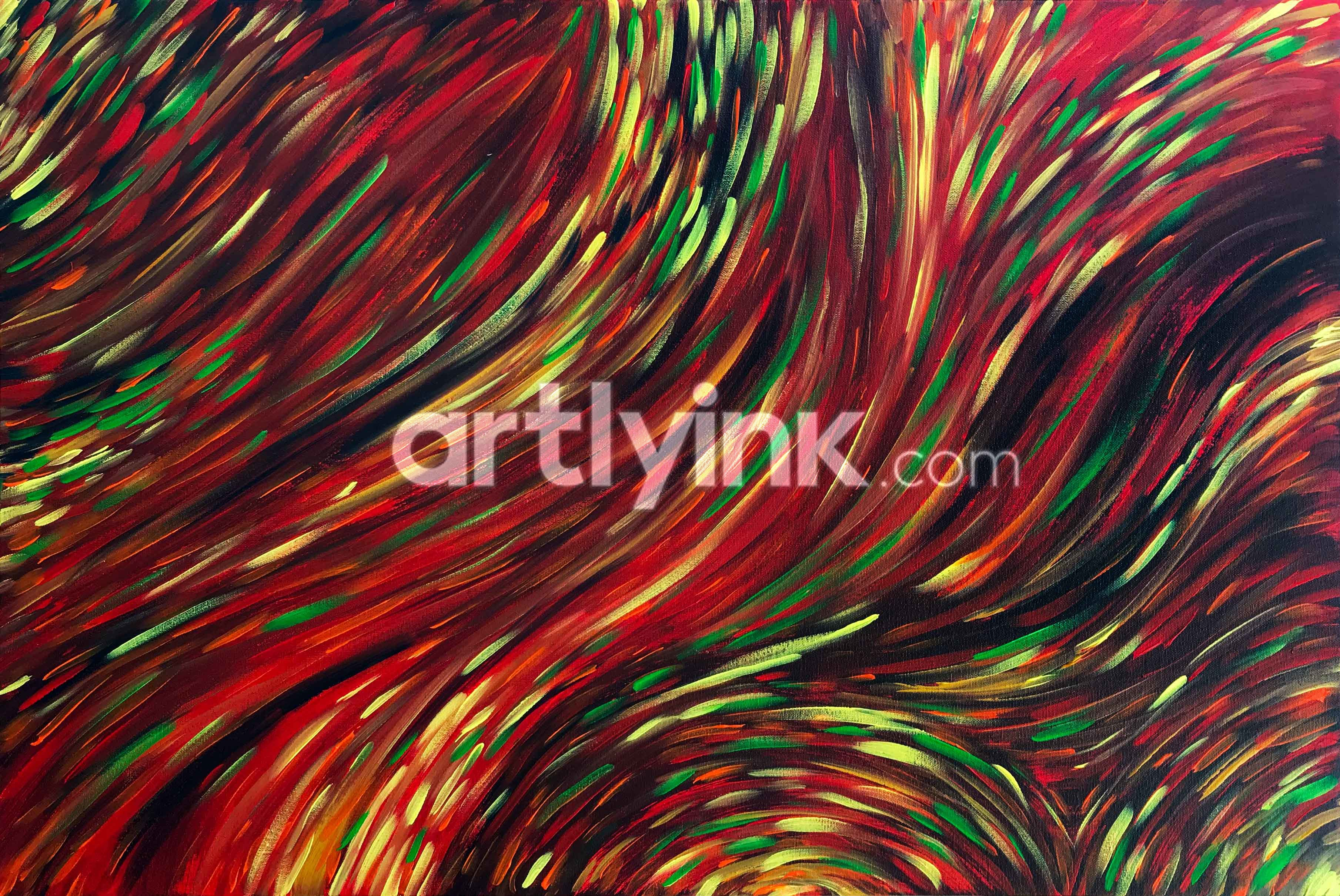 Modern art painting with beautiful colours