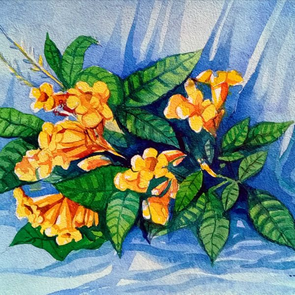 Flower Modeling Watercolour Painting