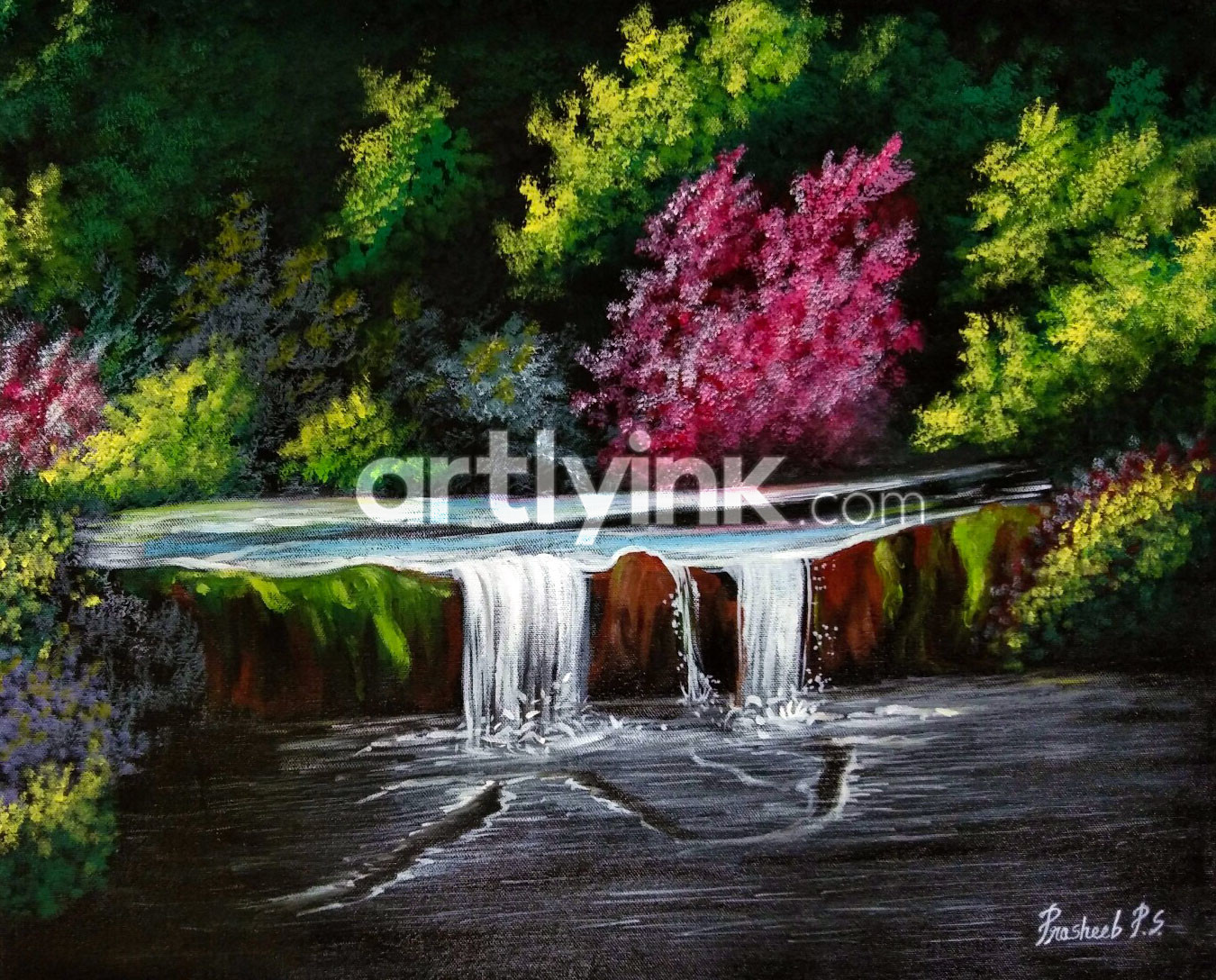 Waterfall paintings buy online