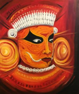 Theyyam ritual art oil paintings buy online