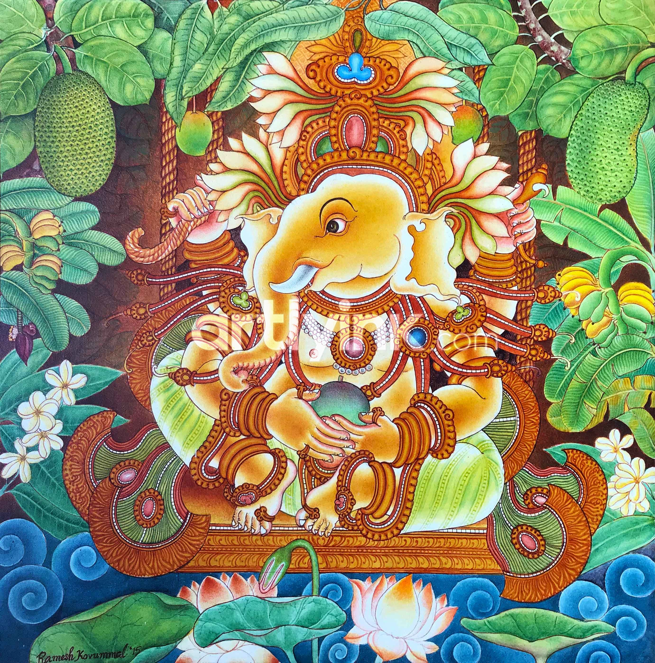 Bhashyasuraksha Ganapathy Mural Paintings