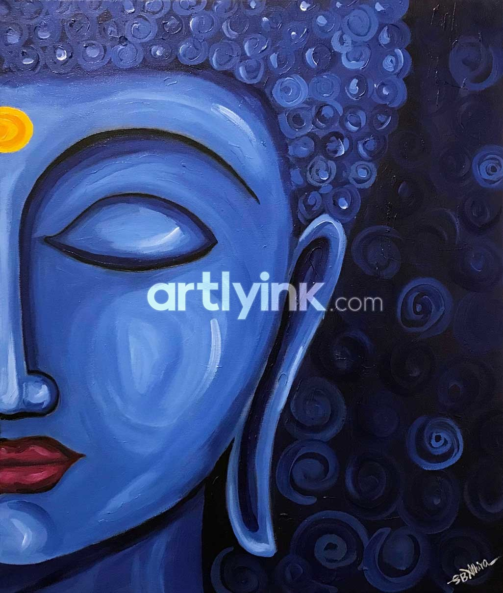 The tranquil buddha Religious paintings buy online