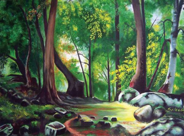 Woods Oil Painting