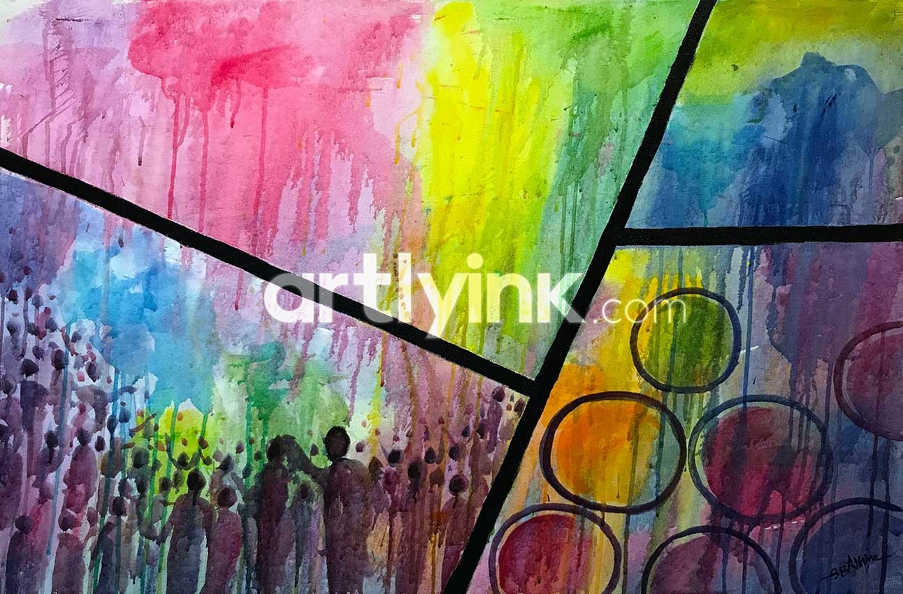Holi the Festival of Colours Painting