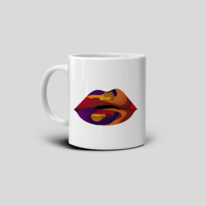 Printed coffee kiss mug