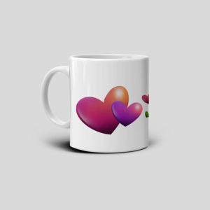 Love printed coffee mug